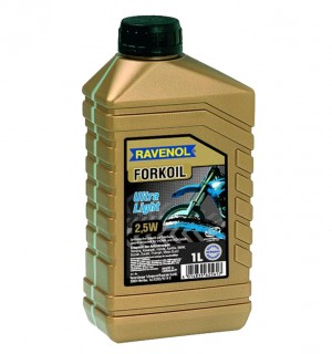 Масло RAVENOL FORKOIL Ultra Light 2,5W (1л.) для вилок и амортизаторов